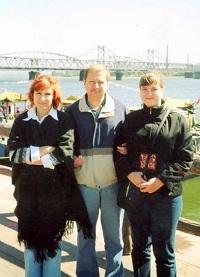 С.Харламов с супругой и дочерью