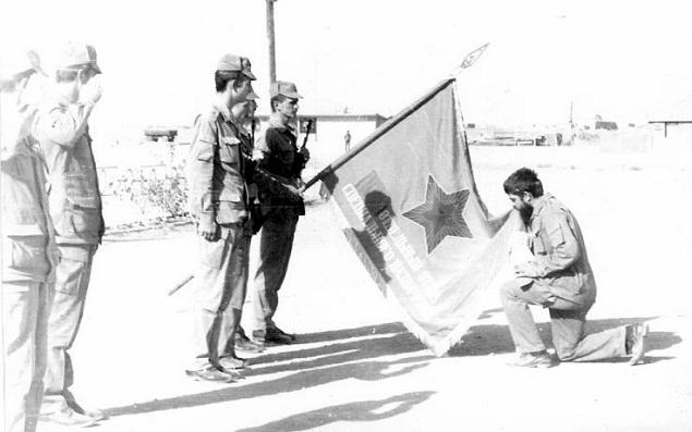 Прощание со знаменем А.Попович 1986г. Газни 177 оо СпН
