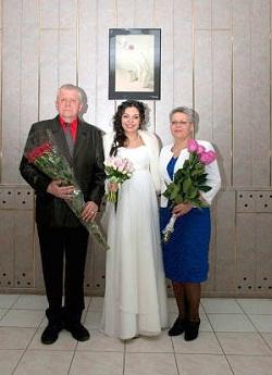 Сергей Будянский, супруга Ирина, дочь Ольга