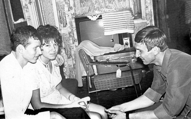 Олег и Вика Войновы, Вадим Бутхудзе. Август 1972г., Киев