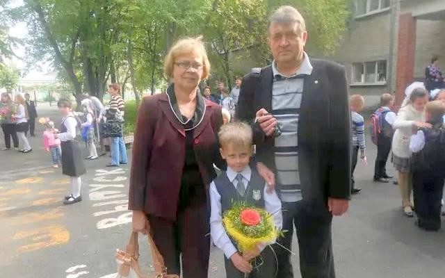 Леонид и Ольга Ксендзовы с внуком Николаем