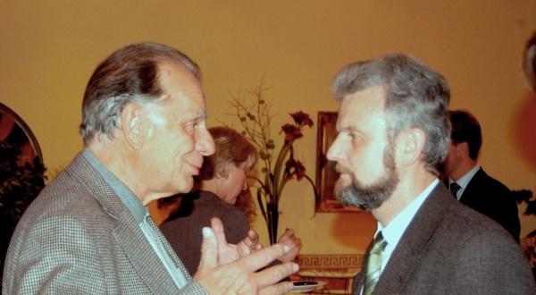 С Жоресом Алферовым, Нобелевским лауреатом