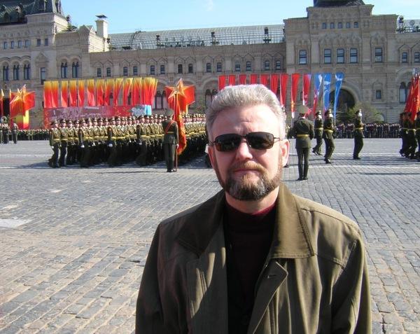 Веду репортаж с Красной площади о параде Победы 9 мая